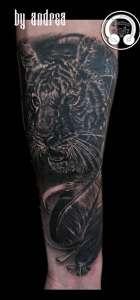 "alt=""animali realistici tattoo tigre """