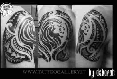 "alt=""tribal tattoo by deborah"""